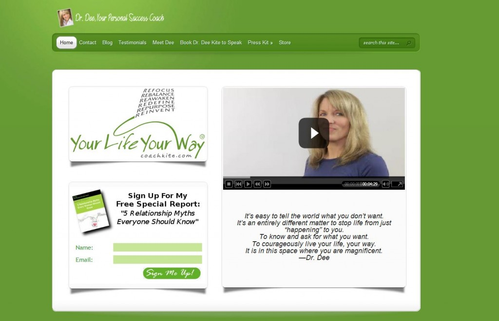 Dee Kite, Your Personal Success Coach Website