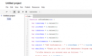 Screenshot - Script Editor after pasting sample script