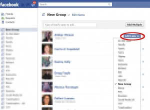 "Screenshot of the ""edit friends list"" button in Facebook"